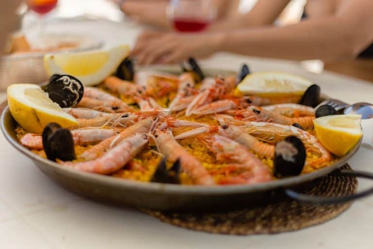 Paella con amigos