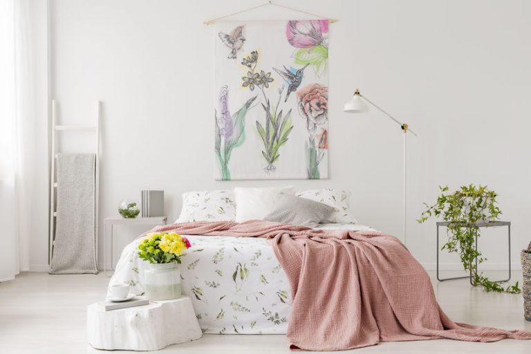 ropa de cama floreada