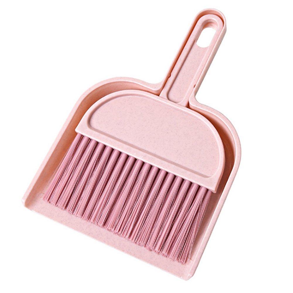 naisicatar Mini pequeño de escoba pala poussiere conjunto mini cepillo de polvo cepillo con recogedor oficina casa coche limpieza recogedor para el gabinete de huésped