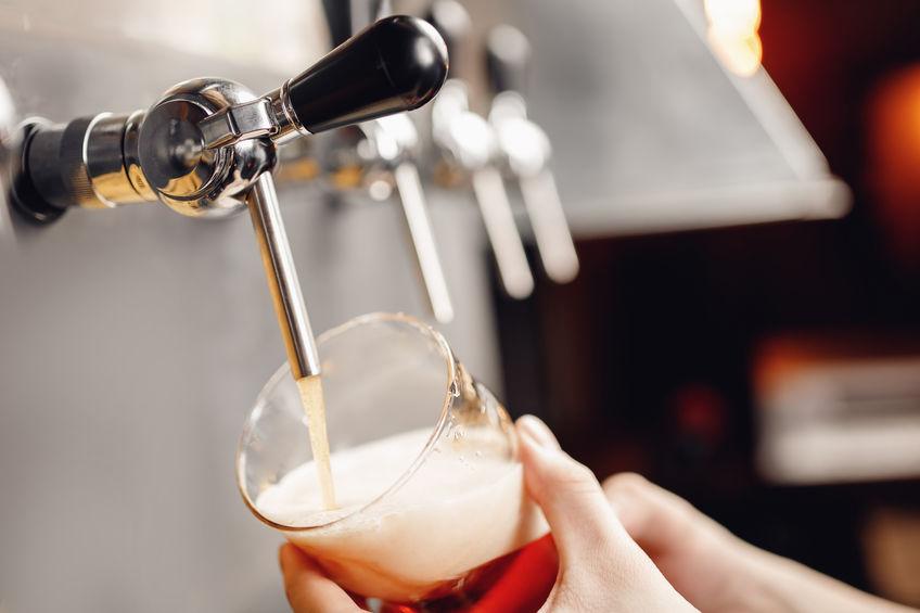 cerveza de vidrio