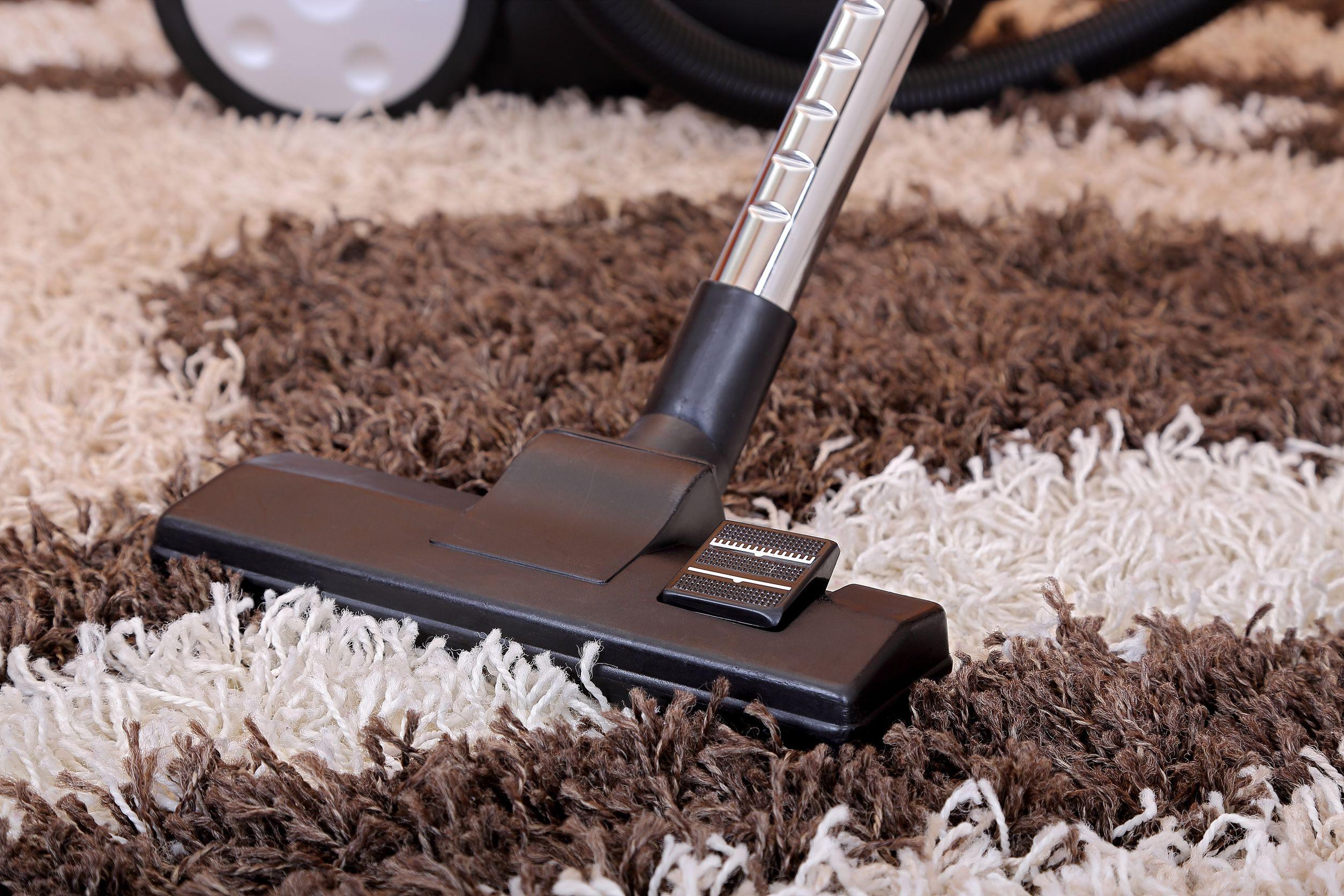 Limpieza con vaporeta de alfombra
