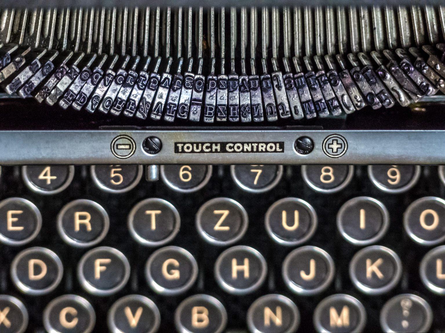 teclas de maquina de escribir