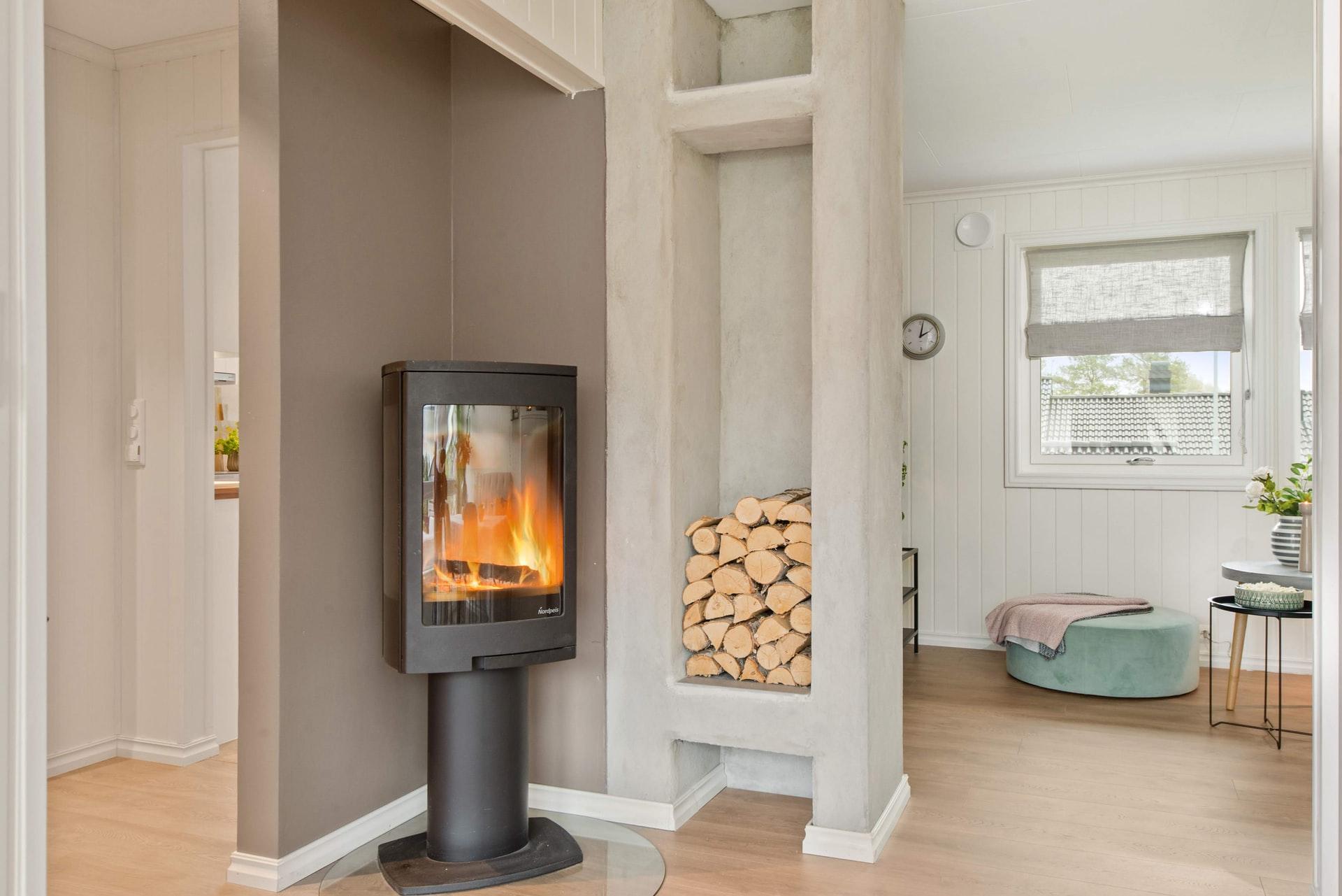 casa moderna con calefaccion