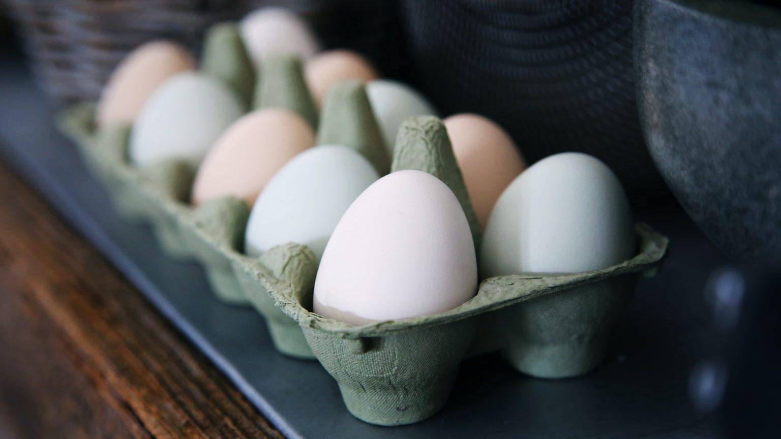 huevos dentro de empaque