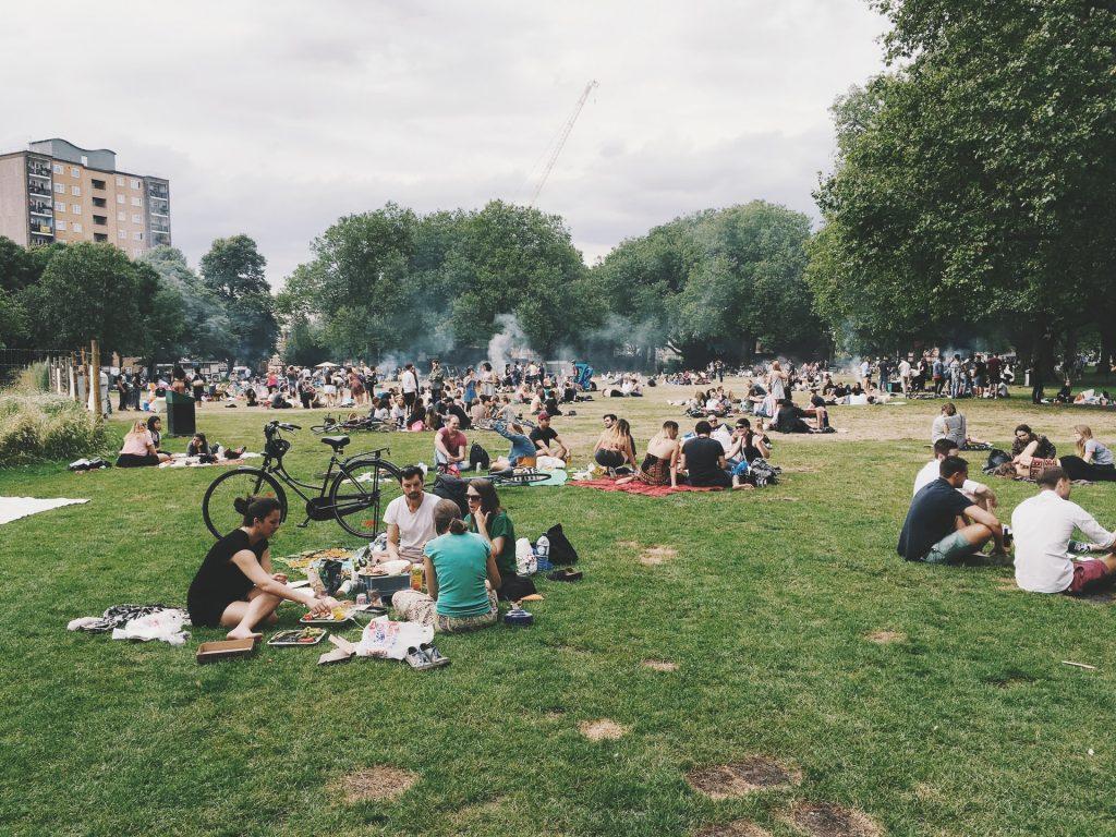 barbacoas en el parque