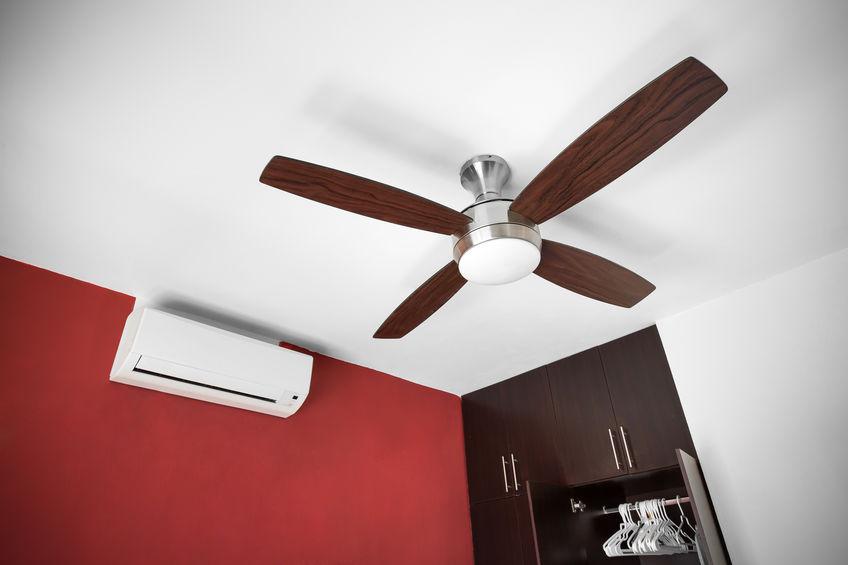 aire acondicionado y ventilador