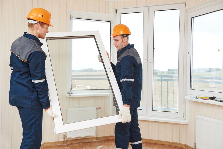 instalando ventanal