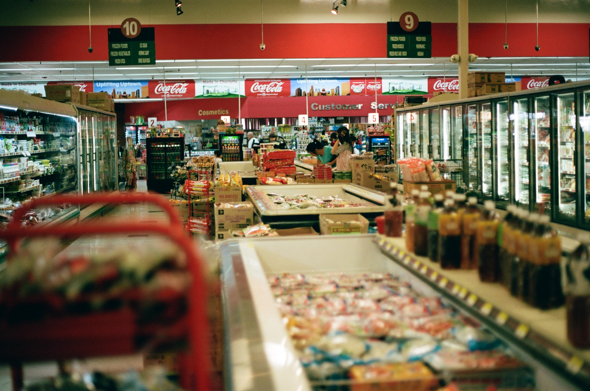 congelador en supermercado