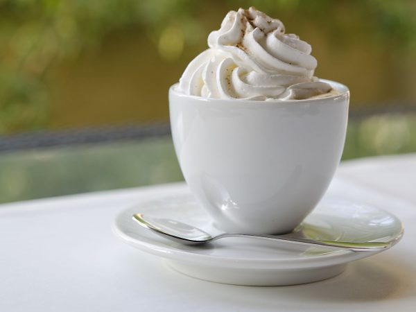 cup of coffee with whip cream