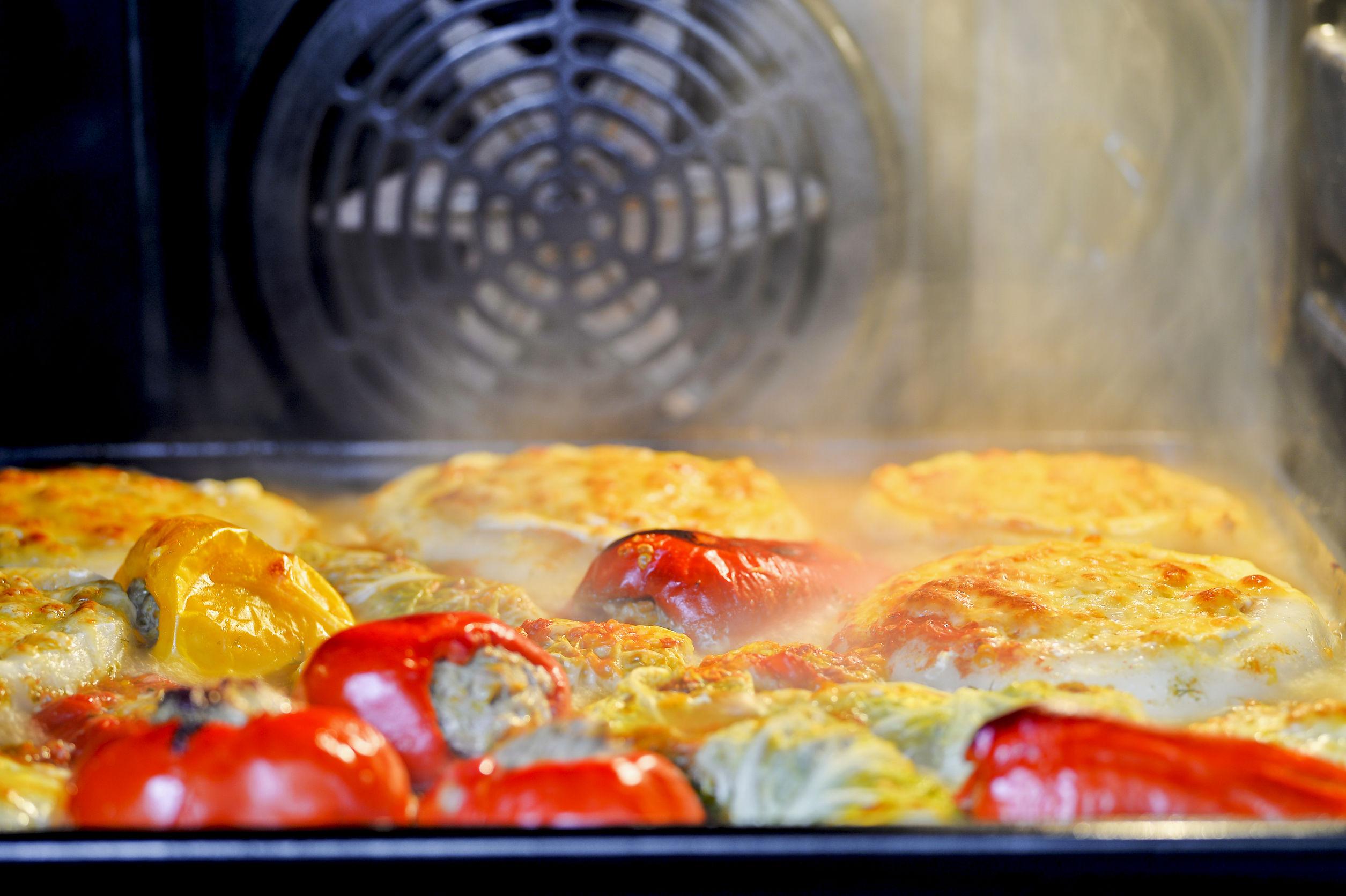 cocinando con horno de vapor