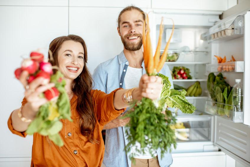 pareja vegana