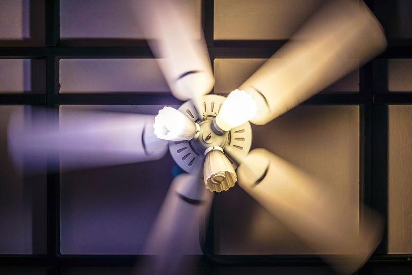ventiladores con luces de hogar