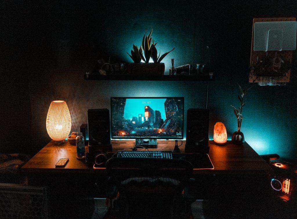 Lampara táctil de noche