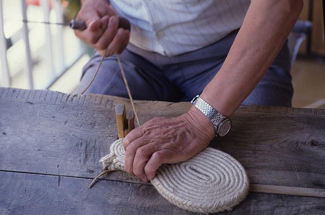 alpargata hechas a mano