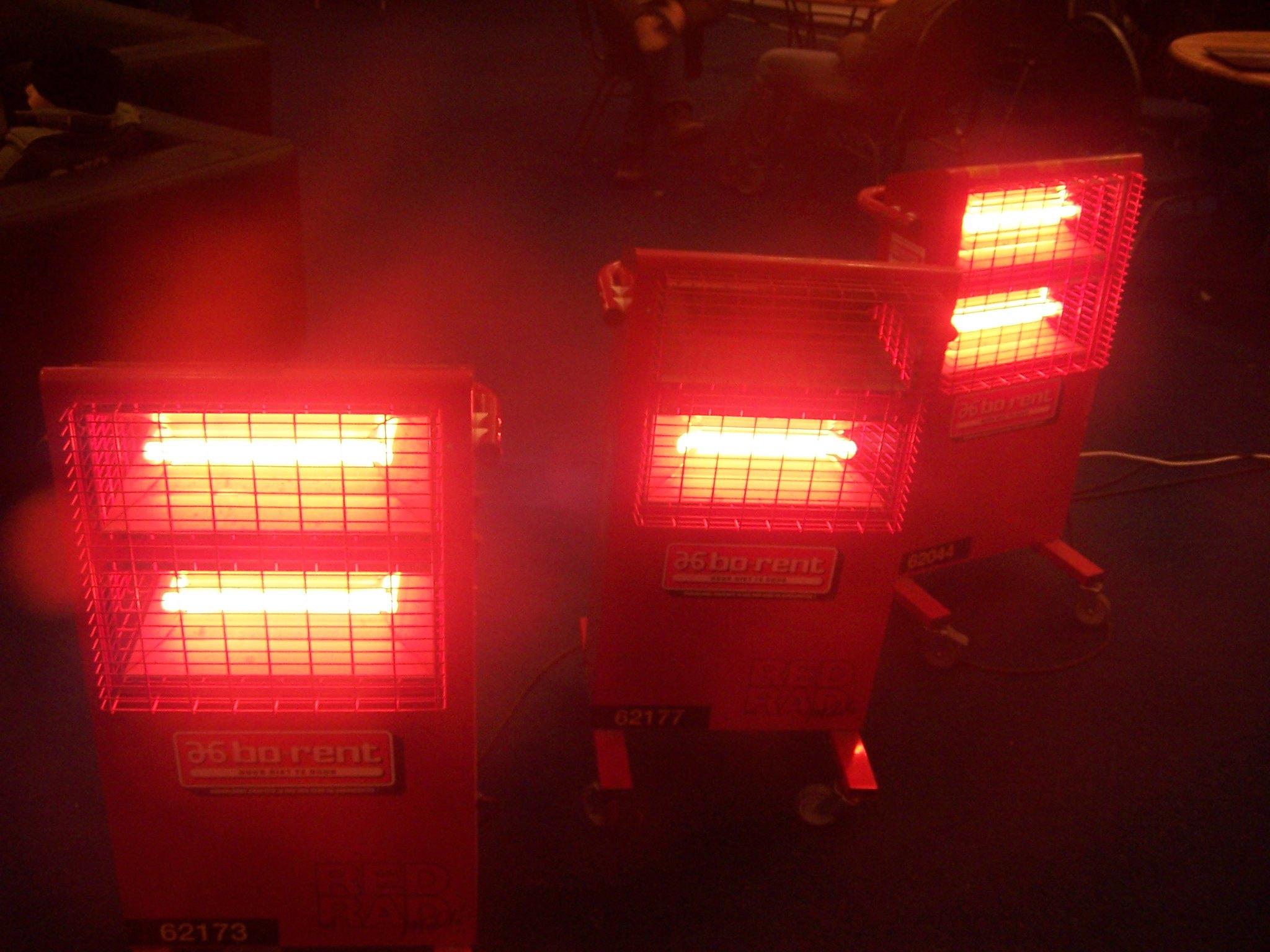 infrarrojo calentador