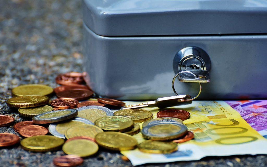 Caja para guardar dinero