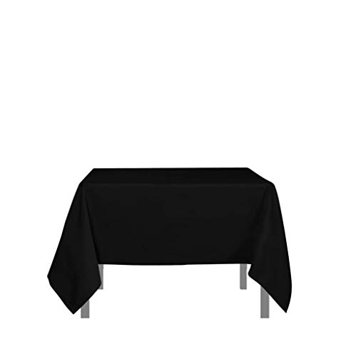 Soleil d'ocre Mantel Antimanchas Cuadrado 180x180 cm Alix Negro